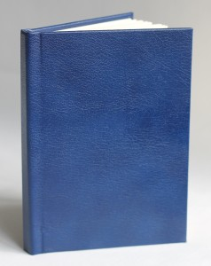 A6 Blue Leather Notebook