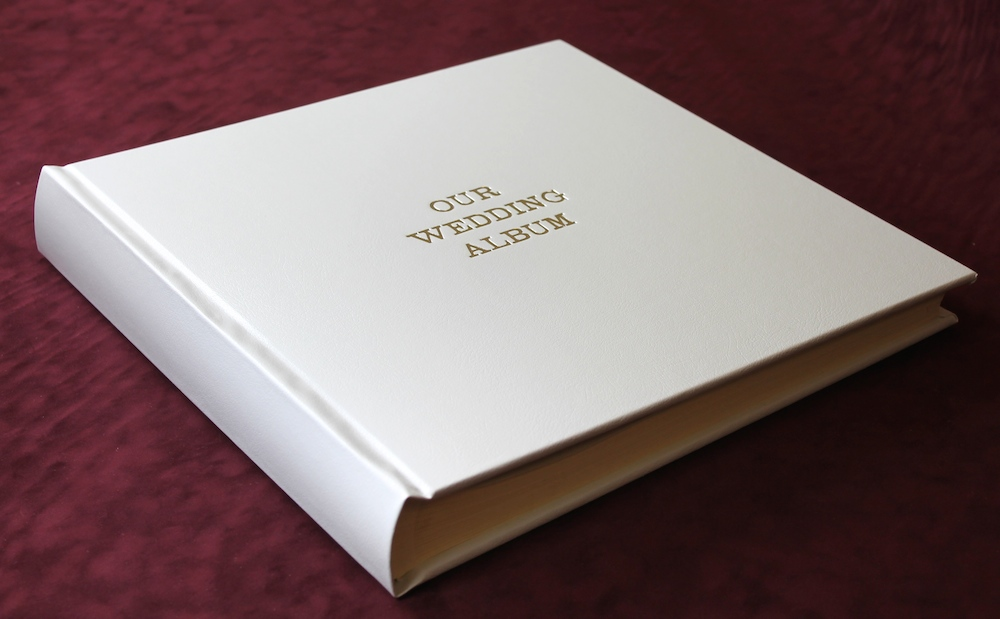 White Leather Photo Album